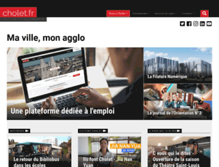 cholet.fr screenshot