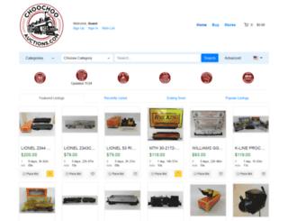 choochooauctions.com screenshot