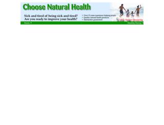 choosenaturalhealth.net screenshot
