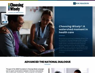 choosingwisely.org screenshot