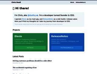 chrisduell.com screenshot