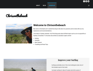 chrisonthebeach.com screenshot
