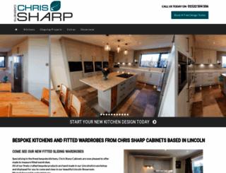chrissharpcabinets.co.uk screenshot