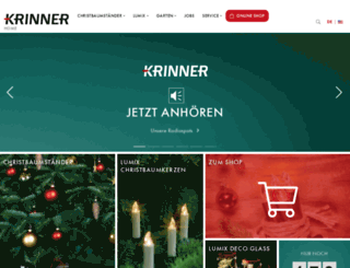 christbaumstaender.krinner.com screenshot