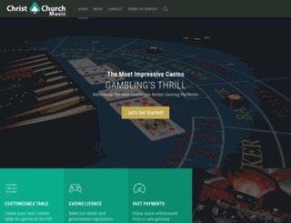 christchurchmusic.org.nz screenshot