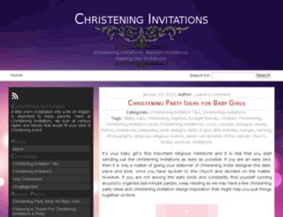 christeninginvitation.com.au screenshot