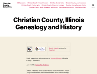 christian.illinoisgenweb.org screenshot
