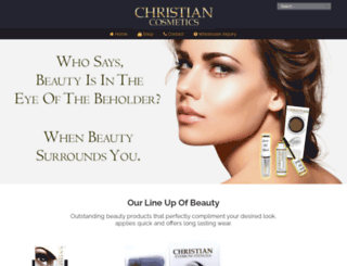 christiancosmetics.com screenshot
