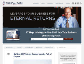 christianfaithatwork.com screenshot