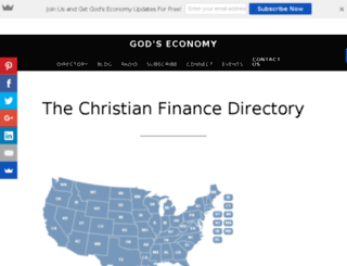christianfinancedirectory.com screenshot