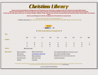 christianlibrary.org screenshot