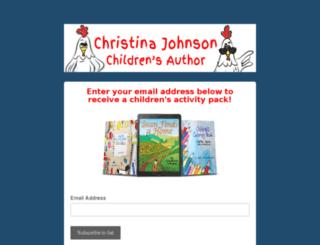 christinajohnsonbooks.com screenshot