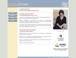 christine-el-fourti.co.uk screenshot