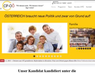 christlichepartei-oberoesterreich.at screenshot