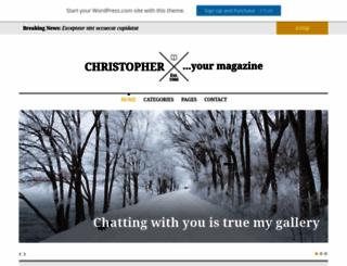 christopherdemo.wordpress.com screenshot