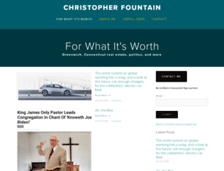 christopherfountain.com screenshot