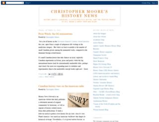 christophermoorehistory.blogspot.ca screenshot