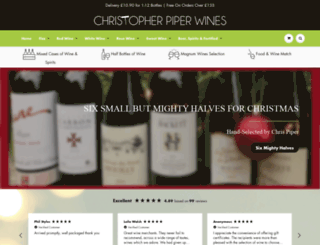 christopherpiperwines.co.uk screenshot