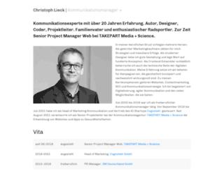 christophlieck.com screenshot
