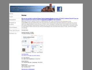 christslutheran.org screenshot