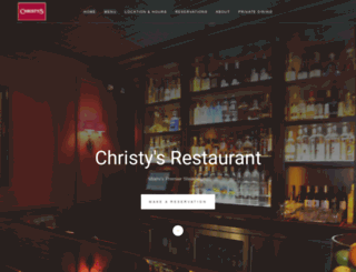 christysrestaurant.com screenshot