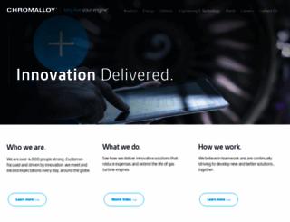 chromalloy.com screenshot