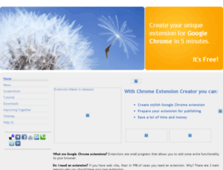 chromeextensioncreator.com screenshot