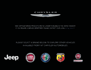 chrysler.co.uk screenshot