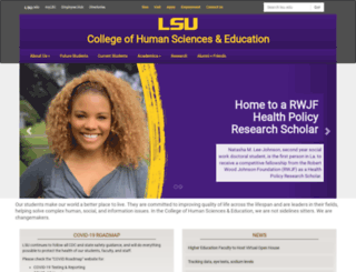 chse.lsu.edu screenshot
