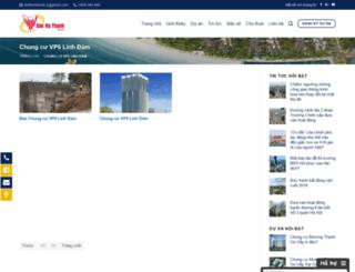 chungcuvp6linhdam.sanhathanh.com screenshot