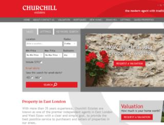 churchill-estates.co.uk screenshot