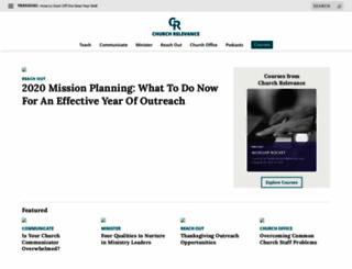 churchrelevance.com screenshot