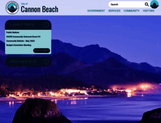 ci.cannon-beach.or.us screenshot