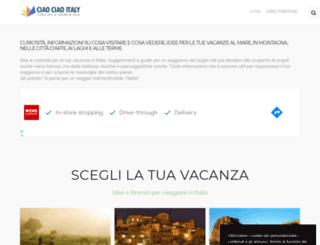 ciaociaoitaly.com screenshot