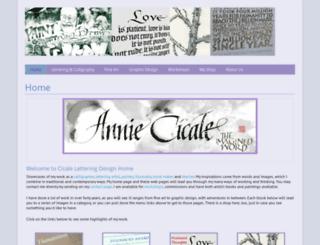 cicaleletteringdesign.com screenshot