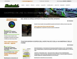 ciclimontanini.it screenshot