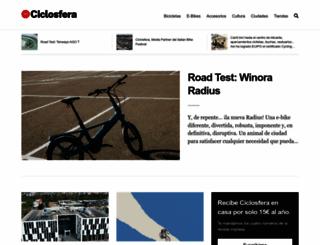 ciclosfera.com screenshot