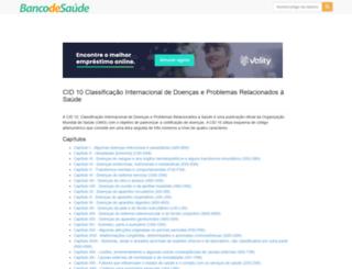 cid10.bancodesaude.com.br screenshot