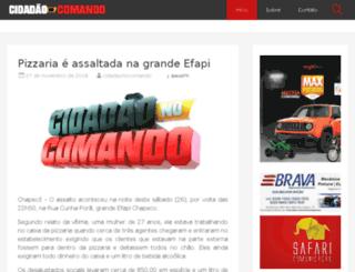 cidadaonocomando.com.br screenshot