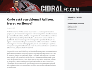 cidralfutebolclube.wordpress.com screenshot