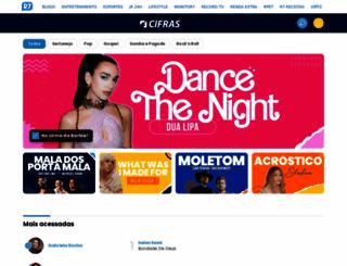 cifras.com.br screenshot