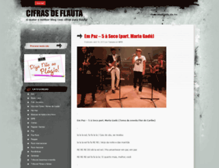 cifrasparaflauta.wordpress.com screenshot