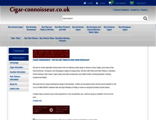 cigar-connoisseur.co.uk screenshot