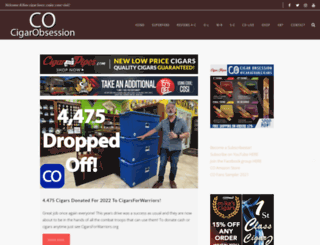 cigarobsession.com screenshot