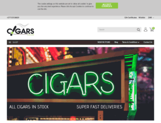 cigars.co.za screenshot