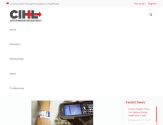 cihl.uark.edu screenshot