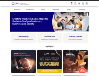 cim.co.uk screenshot