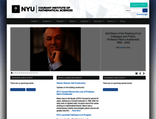 cims.nyu.edu screenshot