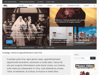 cinaoggi.it screenshot