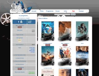 cine-espace.be screenshot